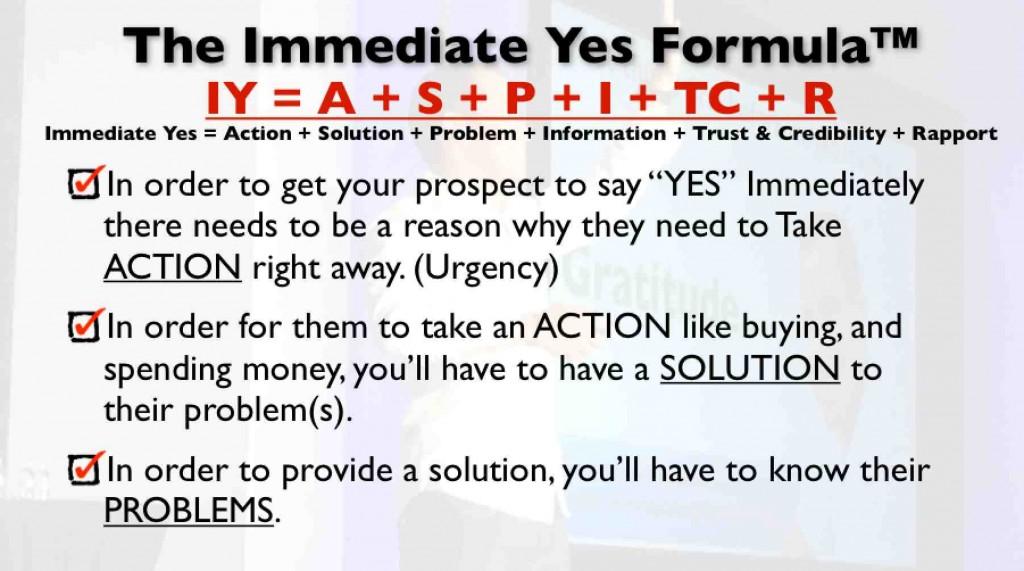 Immediate YES Formula Slide 1 by Cesar